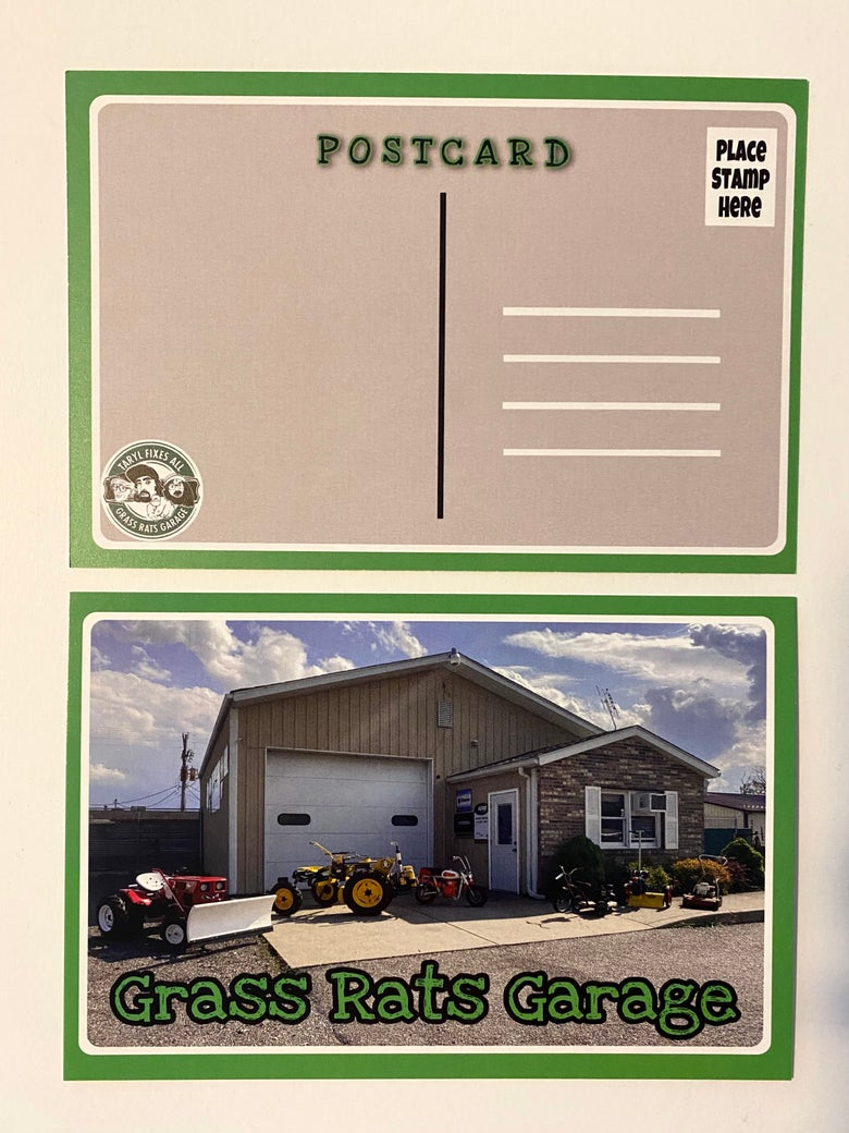 Image of *NEW Grass Rats Garage Post Cards!! (You Send or We Send)