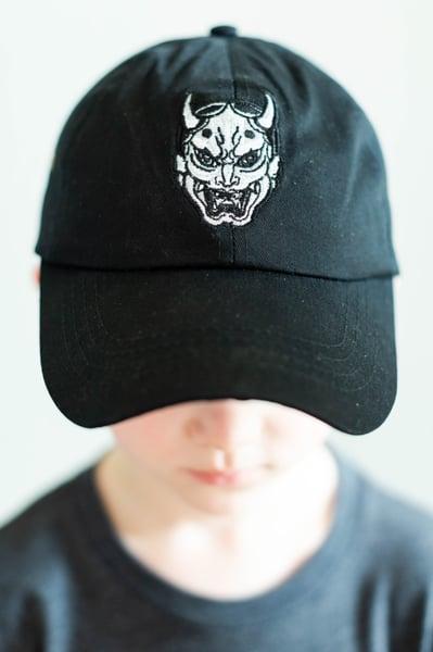 Image of BLACK  HANNYA DAD HAT