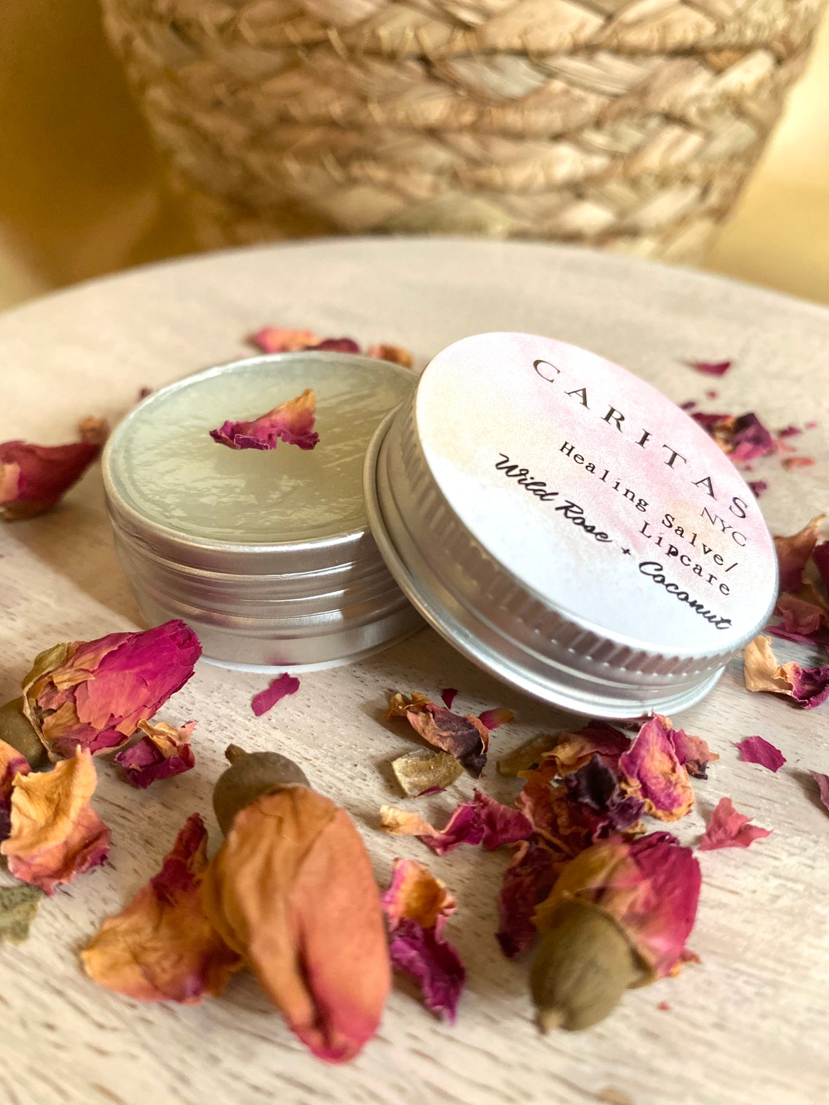 Image of Wild Rose & Coconut (Healing Salve/ Lip Balm)