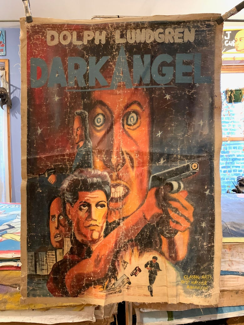 Image of Deadly Prey - 'Dark Angel'. Hand painted movie poster from Ghana