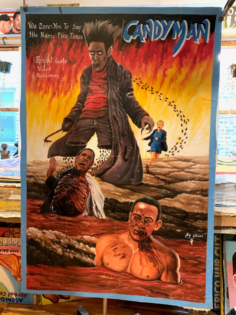 Image of Deadly Prey - 'Candyman'. Hand painted movie poster from Ghana