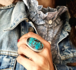 Image of Bague Azurite - taille 59,5 - ref. 4515