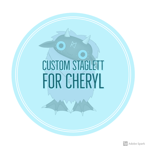 Image of Custom Staglett for Cheryl.