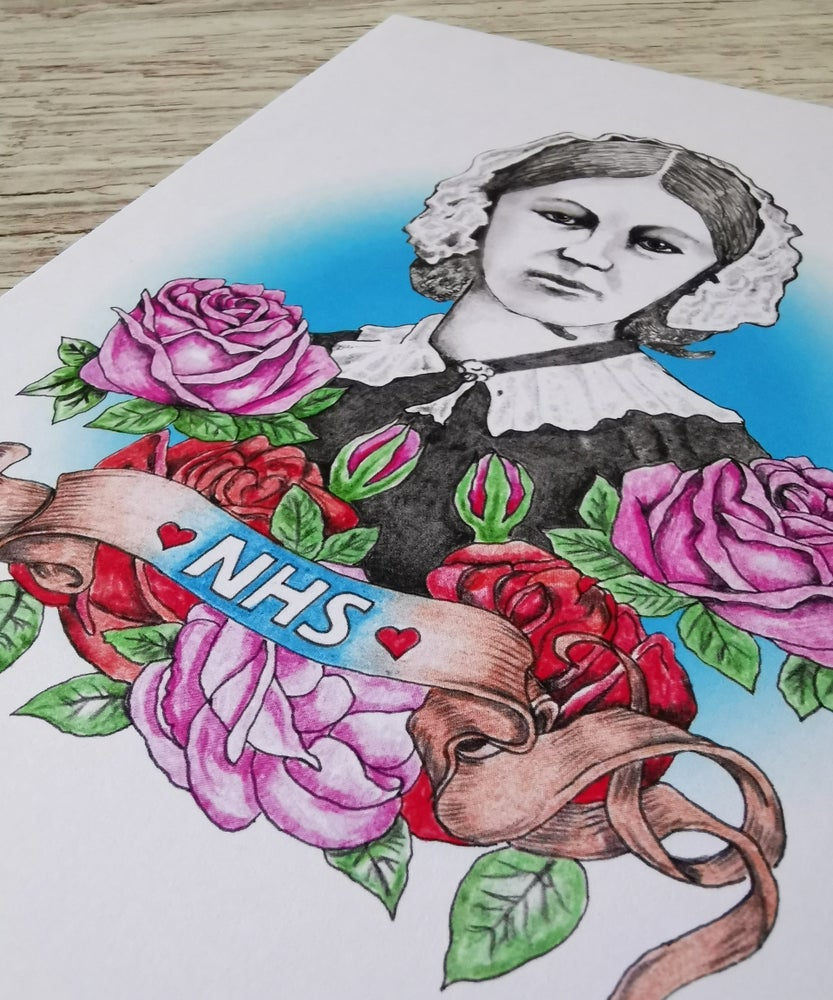 "Image of ""FLORENCE"" hand signed art card to raise money for NHS Charities Together"
