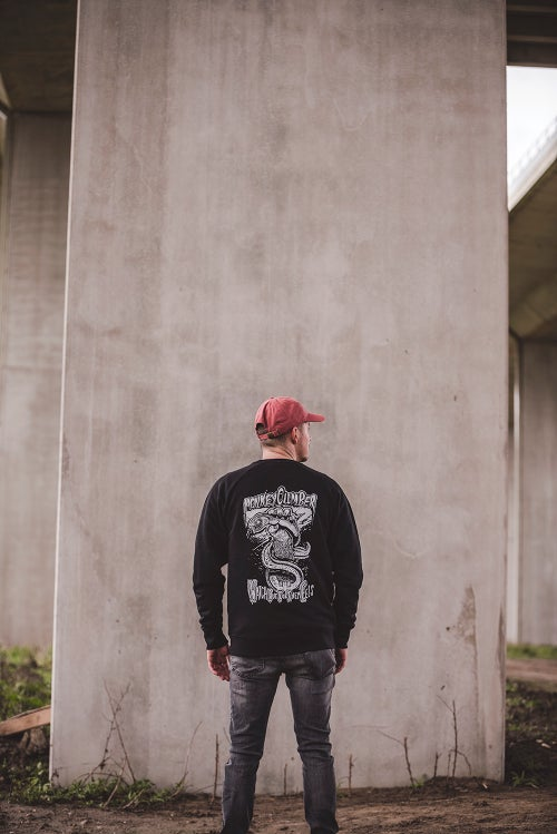 Image of Monkey Climber x Wofte collab crewneck I Black