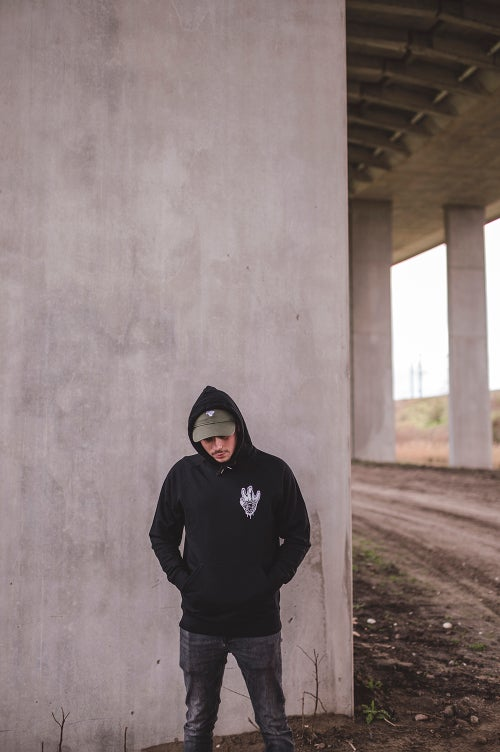 Image of Monkey Climber x Wofte collab hoodie I Black