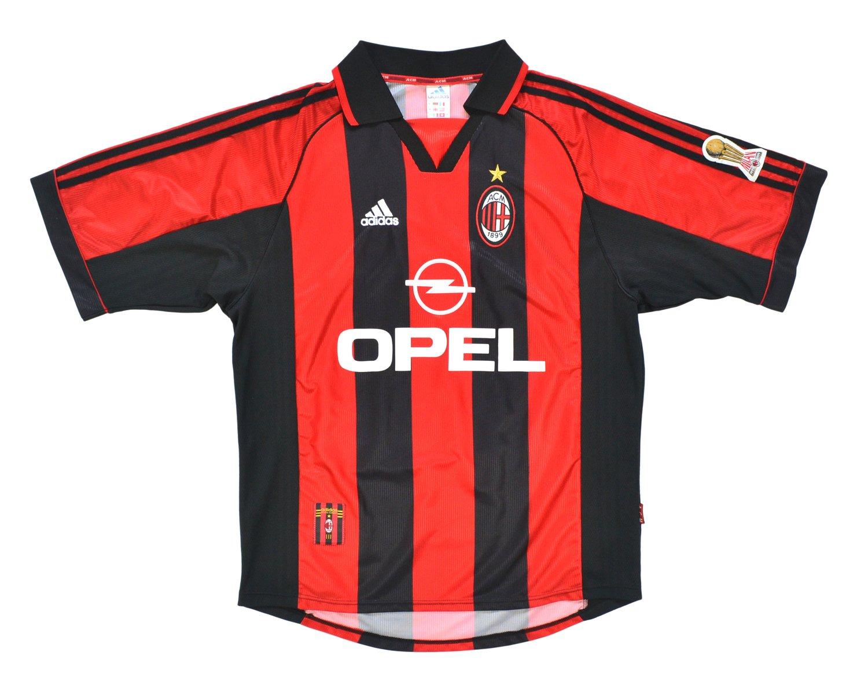 Image of 1998-00 Adidas AC Milan Home Shirt 'Maldini 3' L