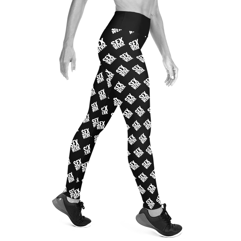 SEXWERK All Over Print Yoga Leggings Black & White