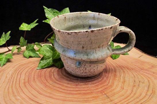Swirly green stony cup