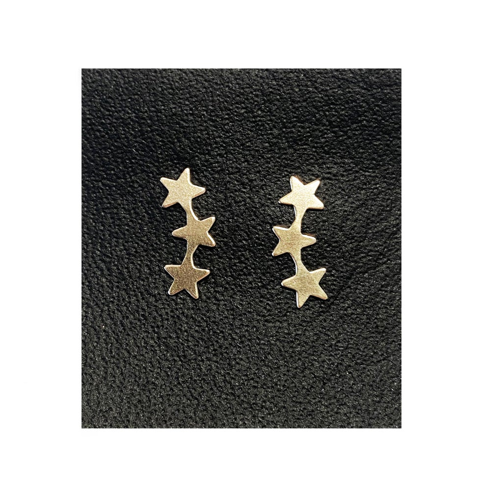 Image of Gold Filled Charm Three Stars Studs