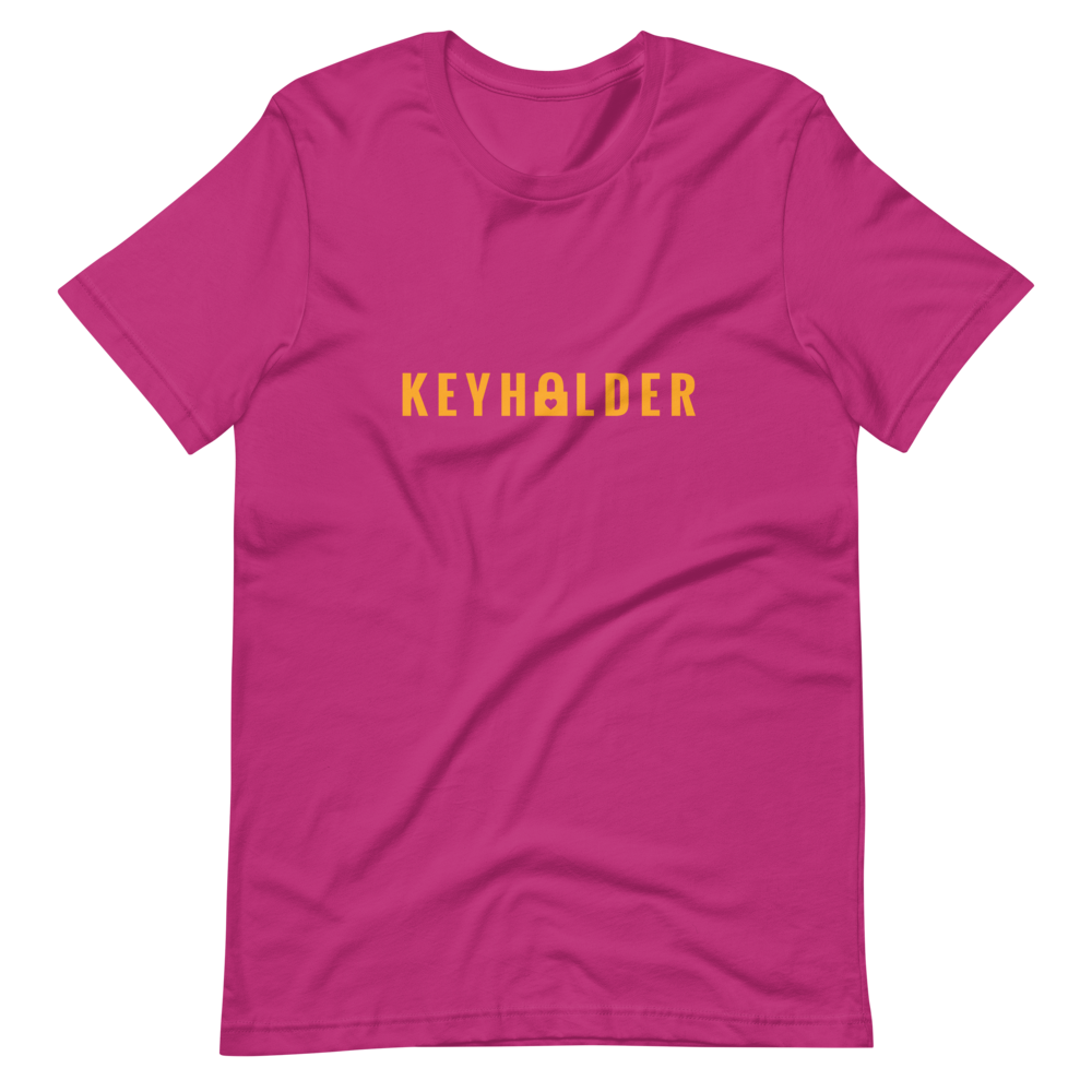 KEYHOLDER Short-Sleeve Unisex T-Shirt Pink & Orange