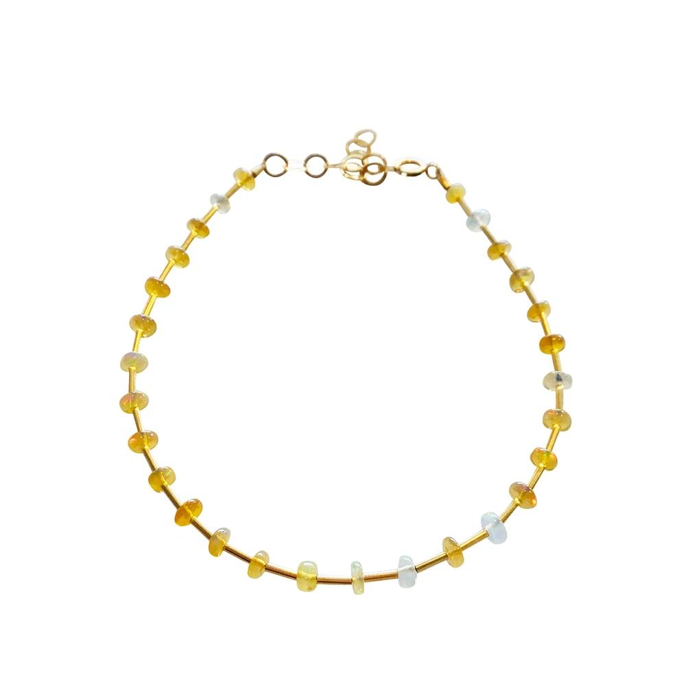 Image of Gold Filled Station Opal Bracelet