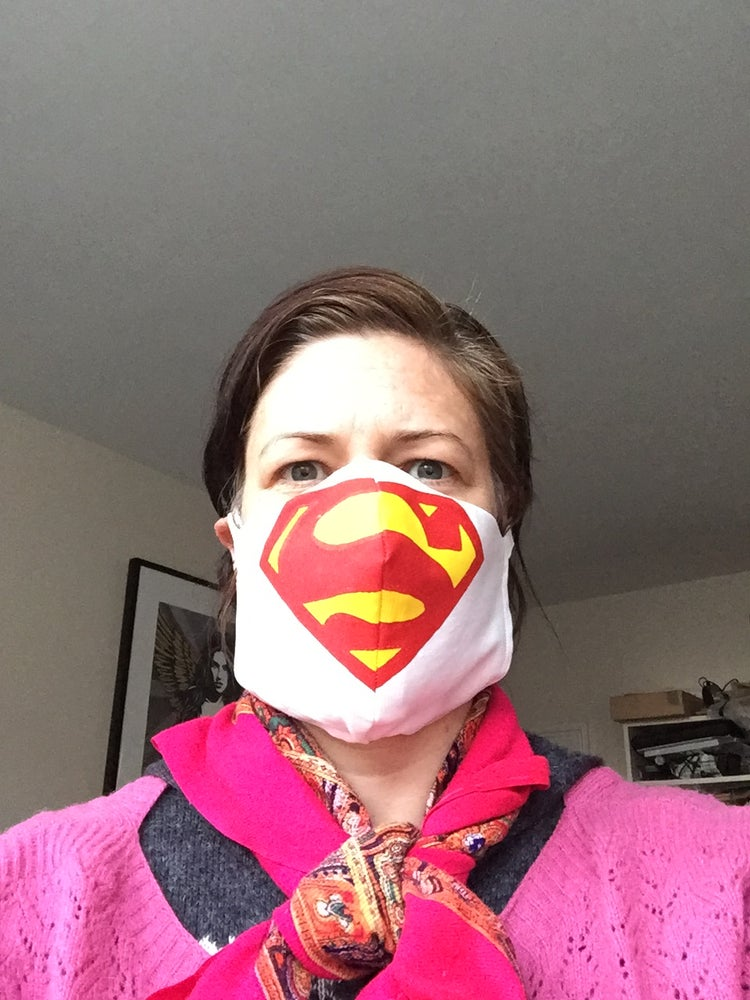 Image of Superhero cotton face mask