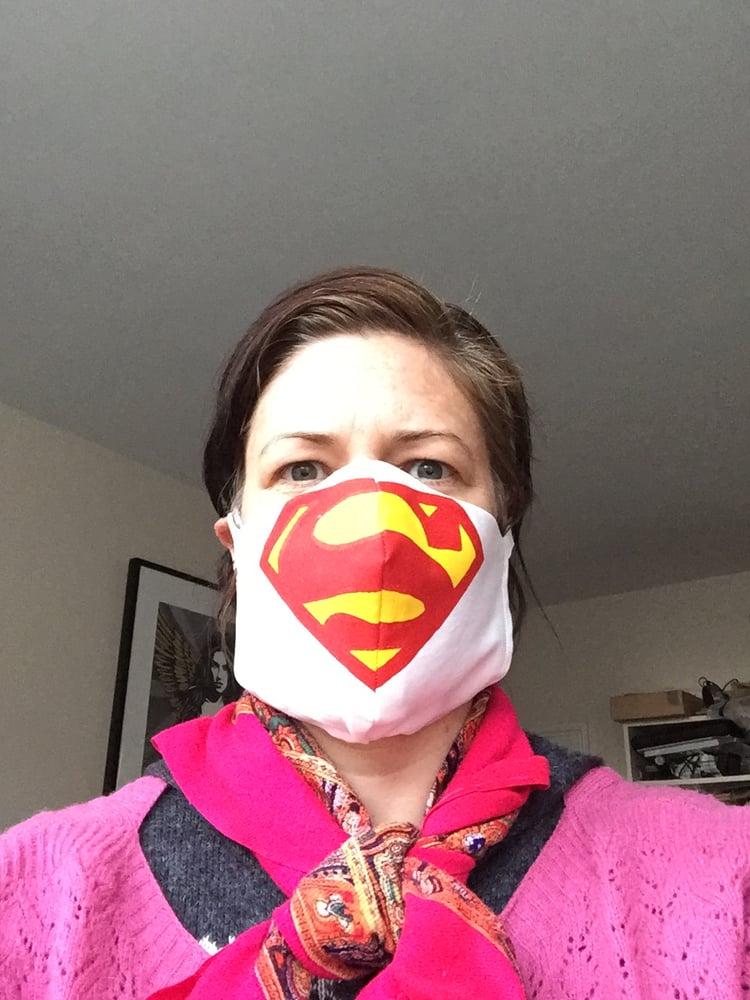 Image of Superhero cotton face mask