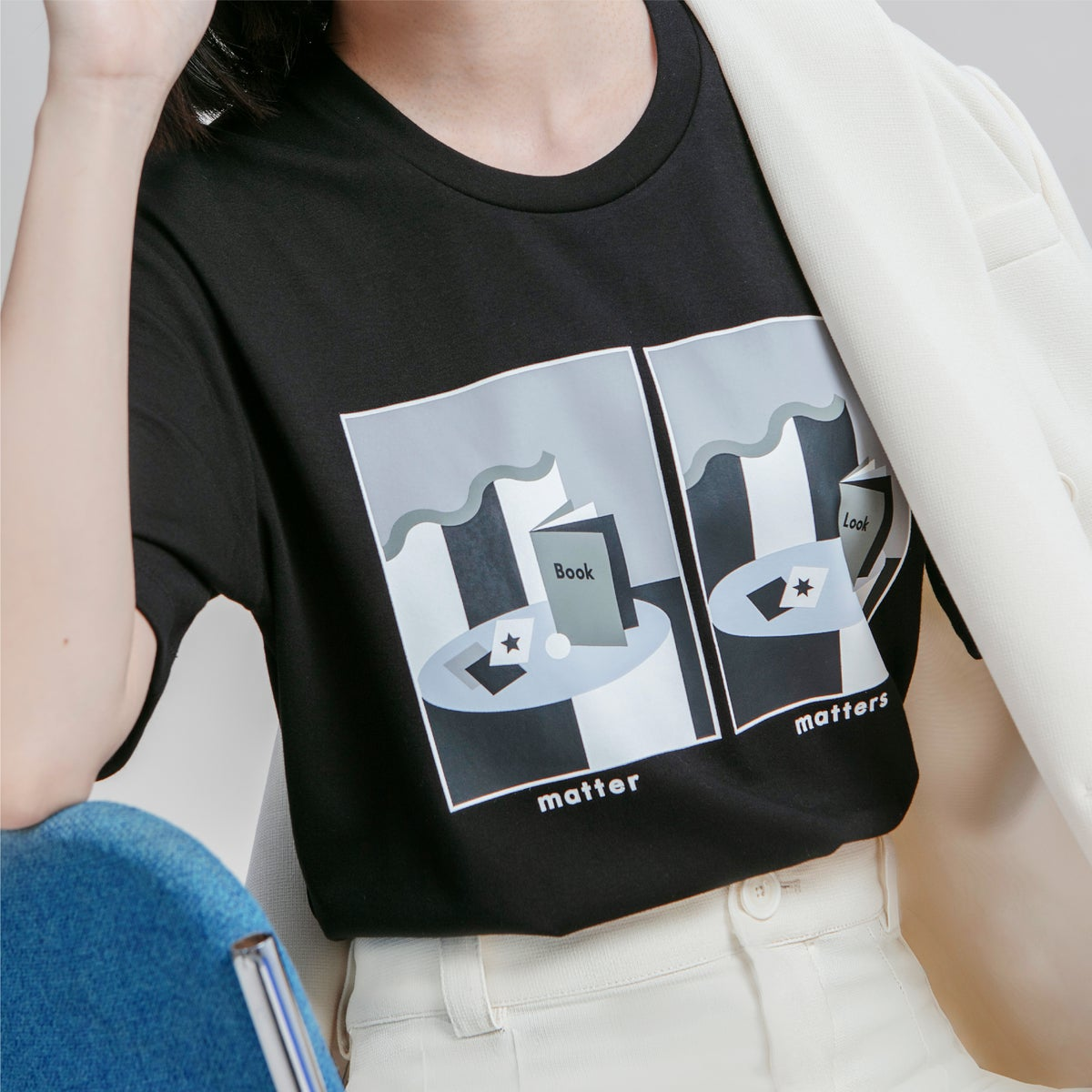 Image of Matter Matters spot the differences T-Shirt - Black