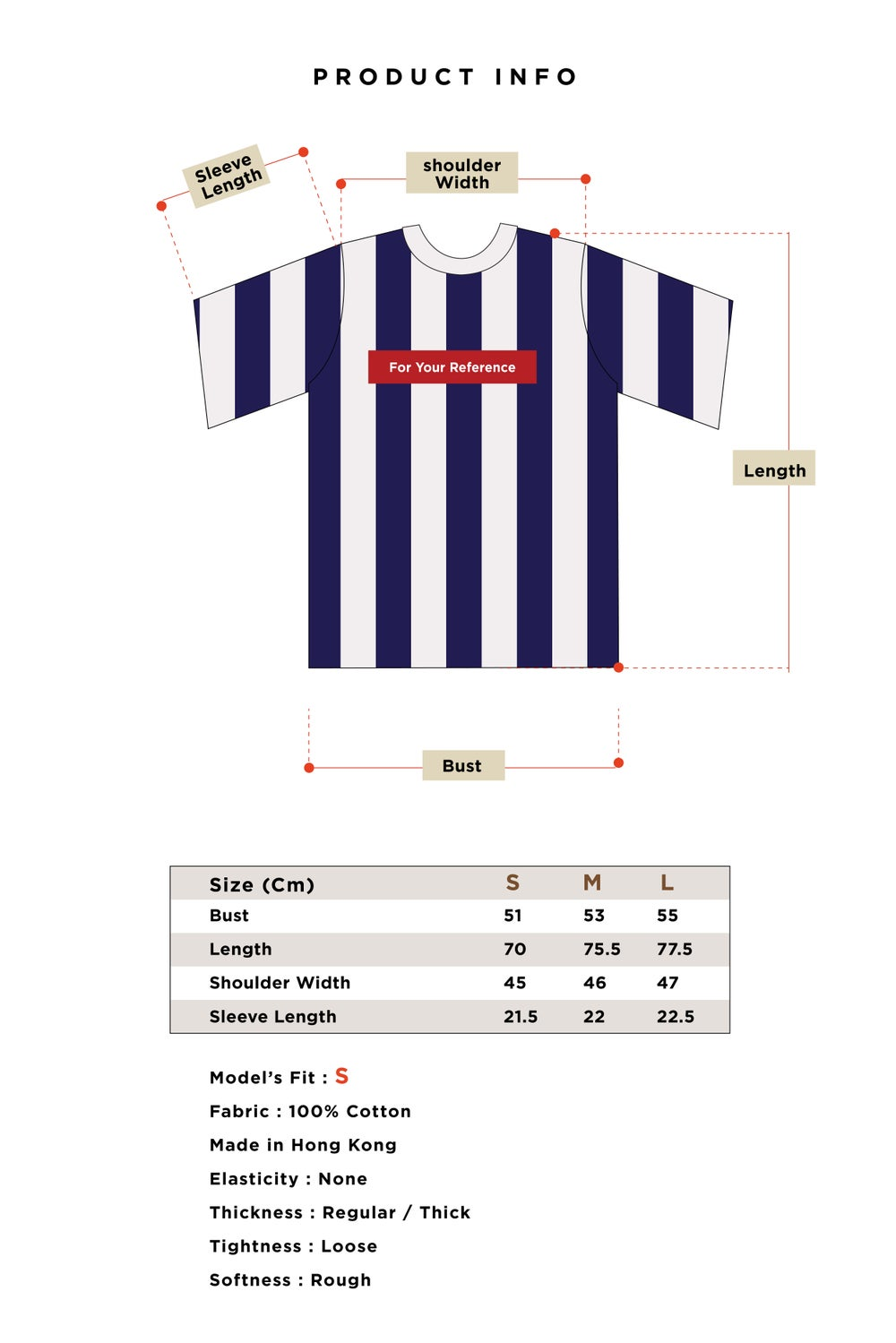 Matter Matters For your reference T-Shirt - Striped Navy