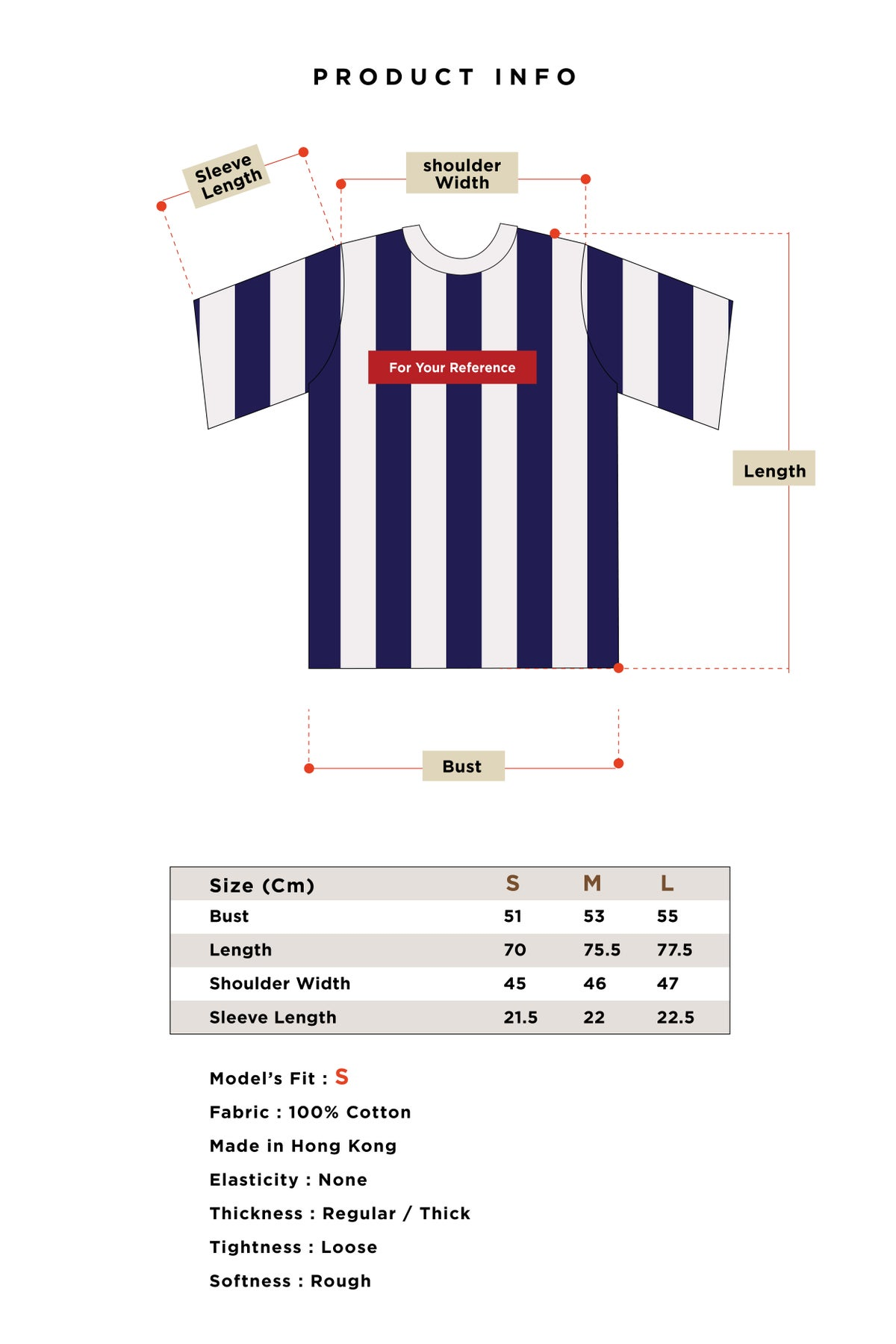 Image of Matter Matters For your reference T-Shirt - Striped Navy