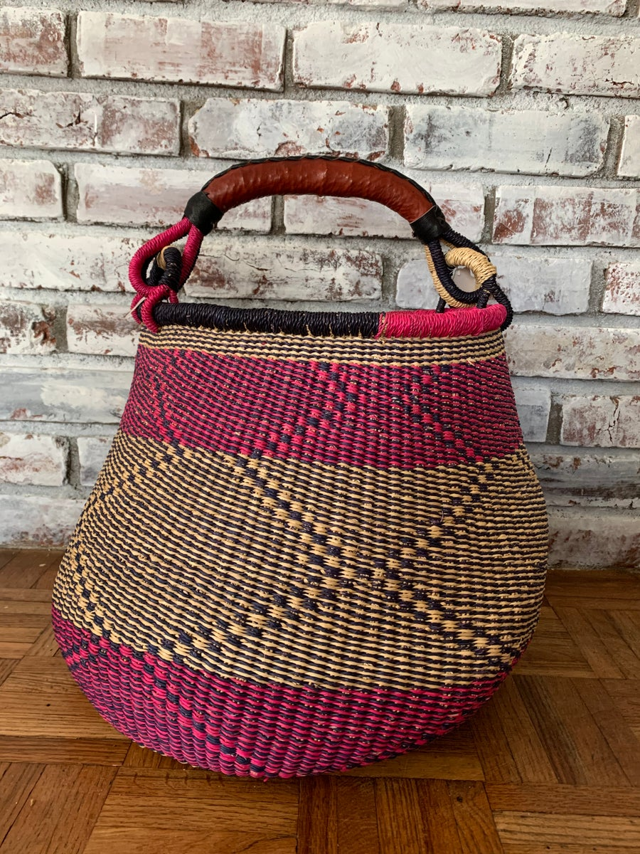 Image of Zigzag Pot Belly Basket