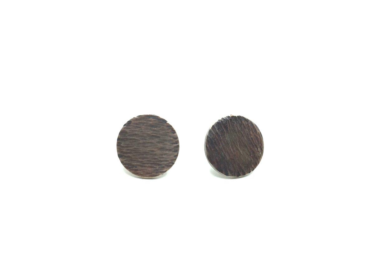 Medium Textured Earrings by Rocky Pardo