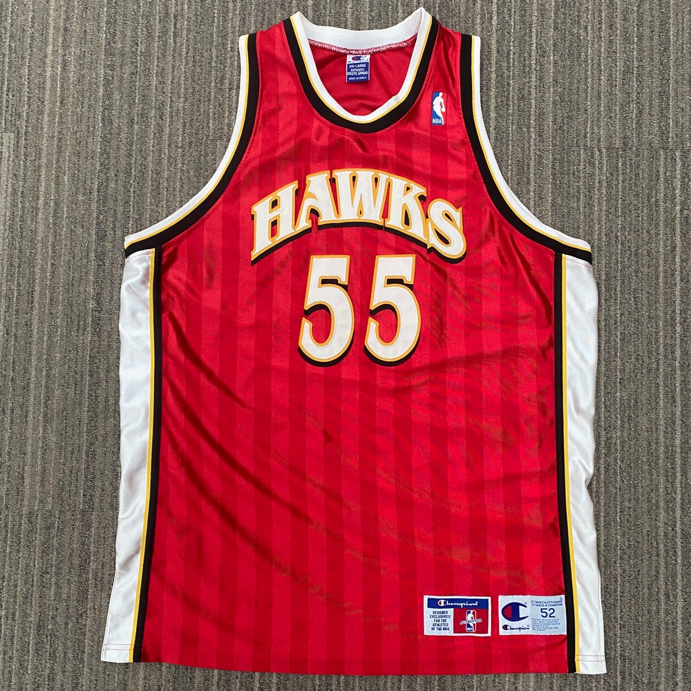 Image of Vintage Authentic Dikembe Mutumbo Atlanta Hawks Champion Jersey