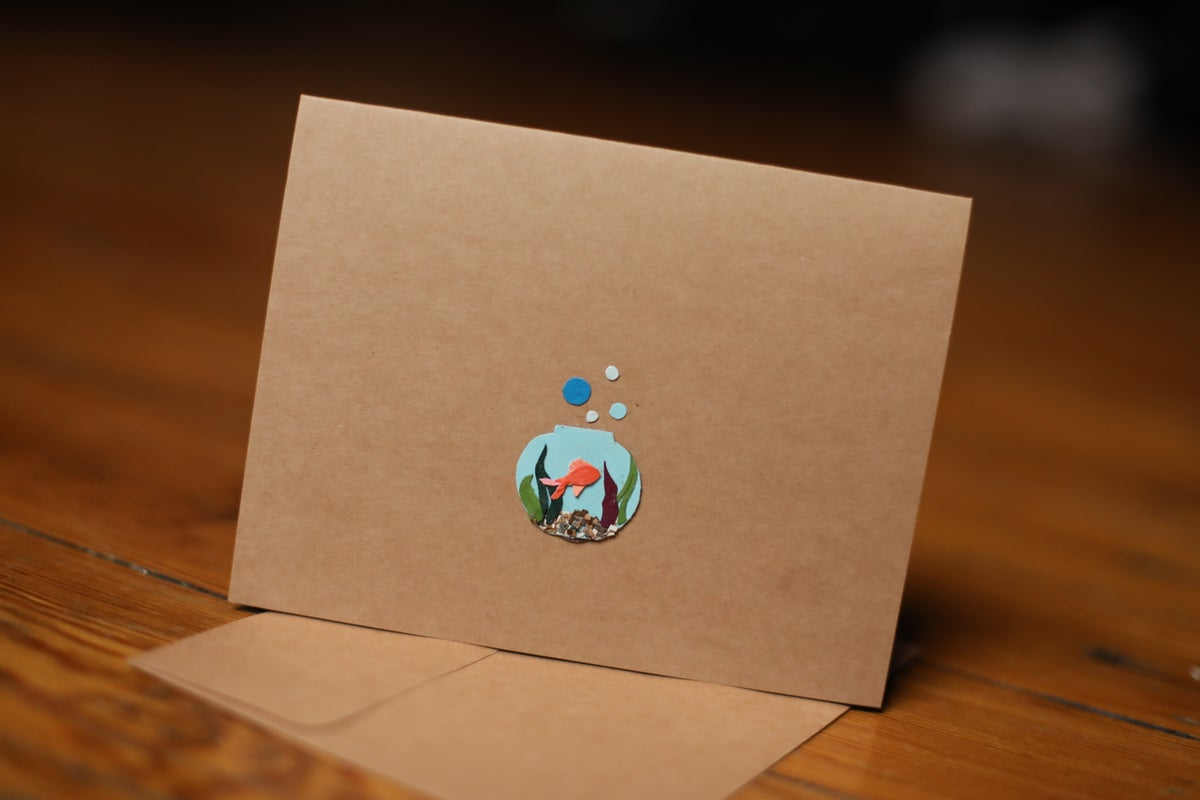 Image of Goldfish Bowl Handmade Card