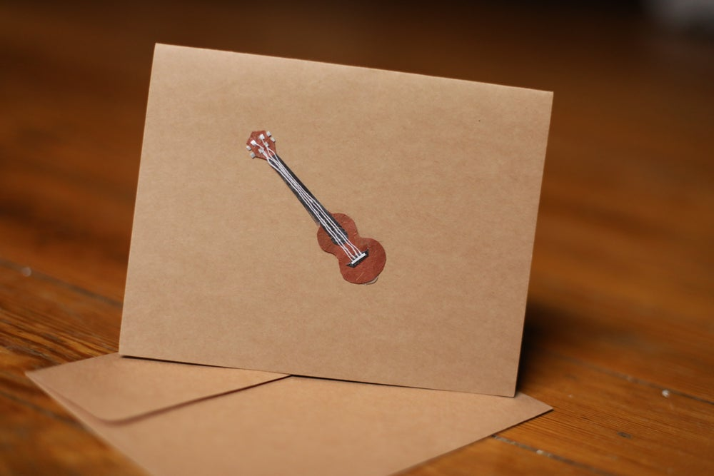 Image of Ukulele Handmade Card