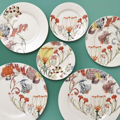 "Image of The Grandma's Garden Dessert Plate ""B"""