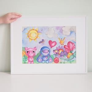 Image of Lámina infantil de Fauna y Flora