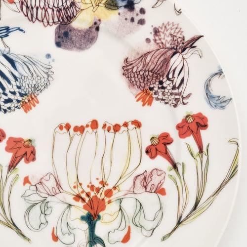 """Image of The Grandma's Garden Dinner Plate """"B"""""""