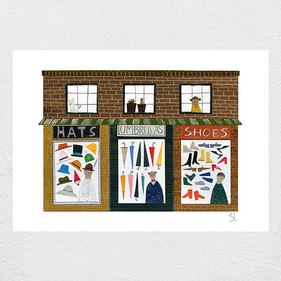 Image of Shoppe House Print