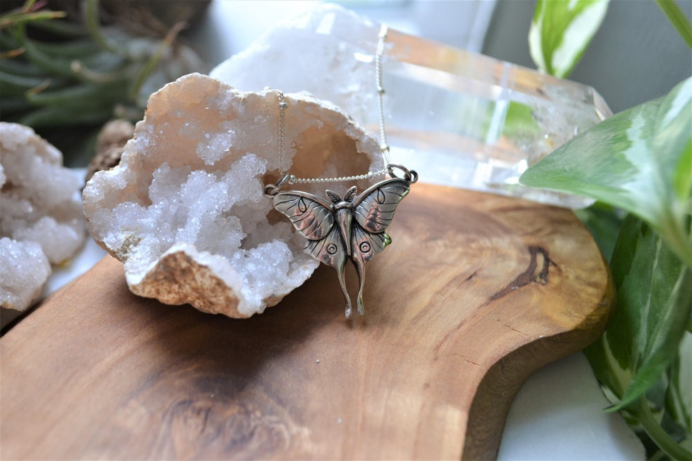 Image of Luna moth necklace