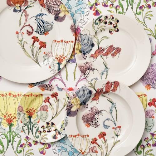 "Image of The Grandma's Garden Bread Plate ""B"""