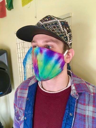 Image of Trip Tie-Dye Reversible Soft Cotton Mask