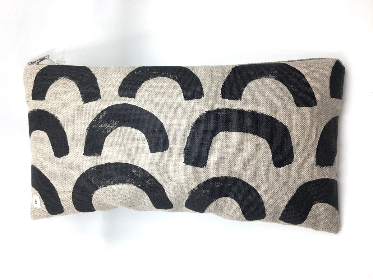 Large Block-Printed Pouch by K Studio