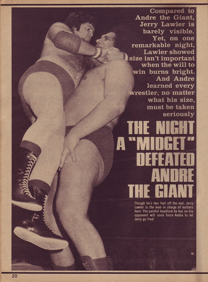 """Image of Memphis Wrestling: OBEY the BOSS  King v Andre (19"""" x 19""""  CPSIA Compliance Certified)"""