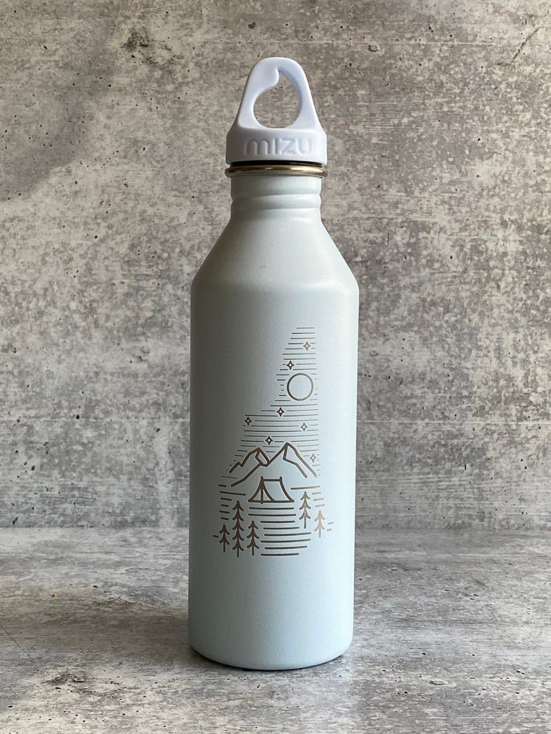 Image of Camping logo - Light Blue - 25 oz Single Wall Narrow Mouth Bottle