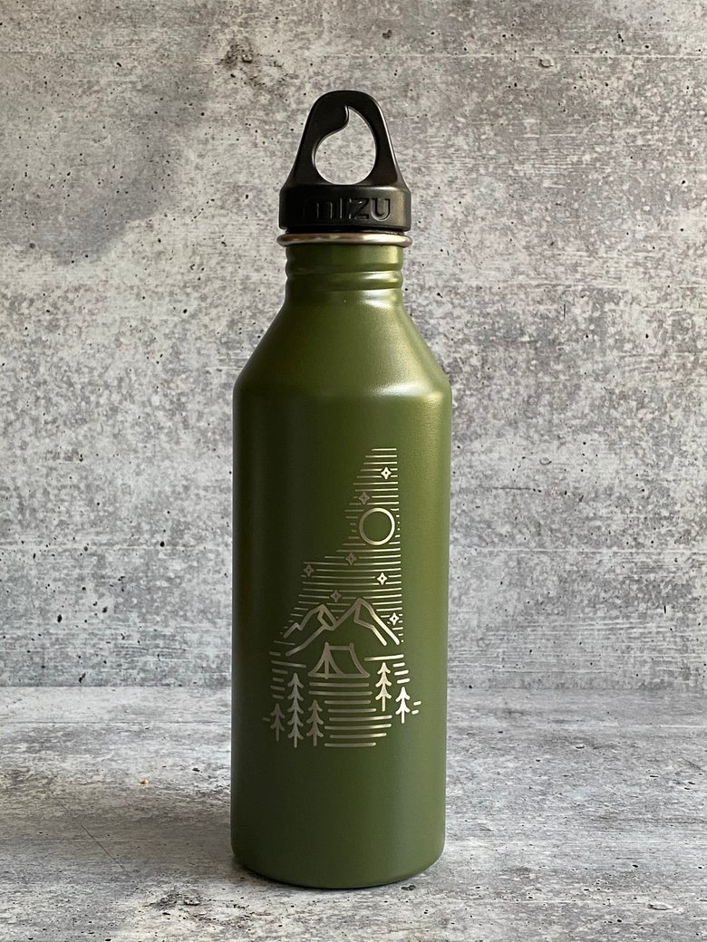 Image of Camping logo - Army Green - 25 oz Single Wall Narrow Mouth Bottle