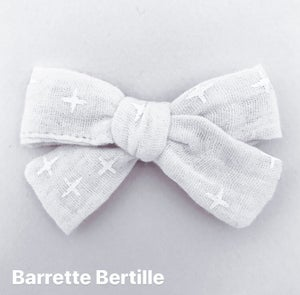 Image of Barrette double gaze de coton kaki