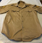 Image of NOISE CAMP by PDM military short sleeve button up SHIRT