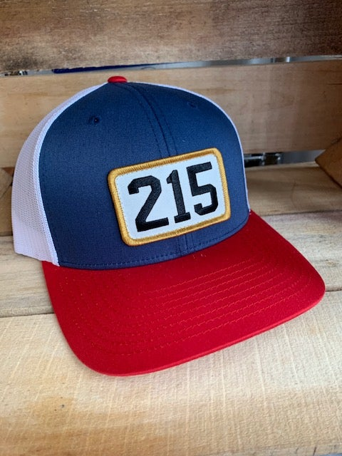 215 Blue+Red trucker hat