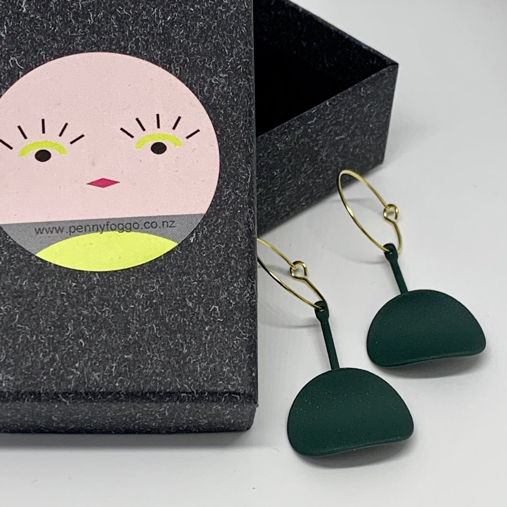Image of Forest Green Drop Earrings