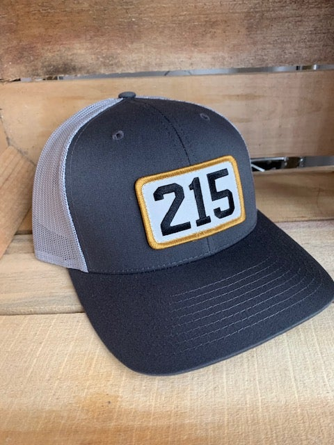 Grey 215 Trucker Hat