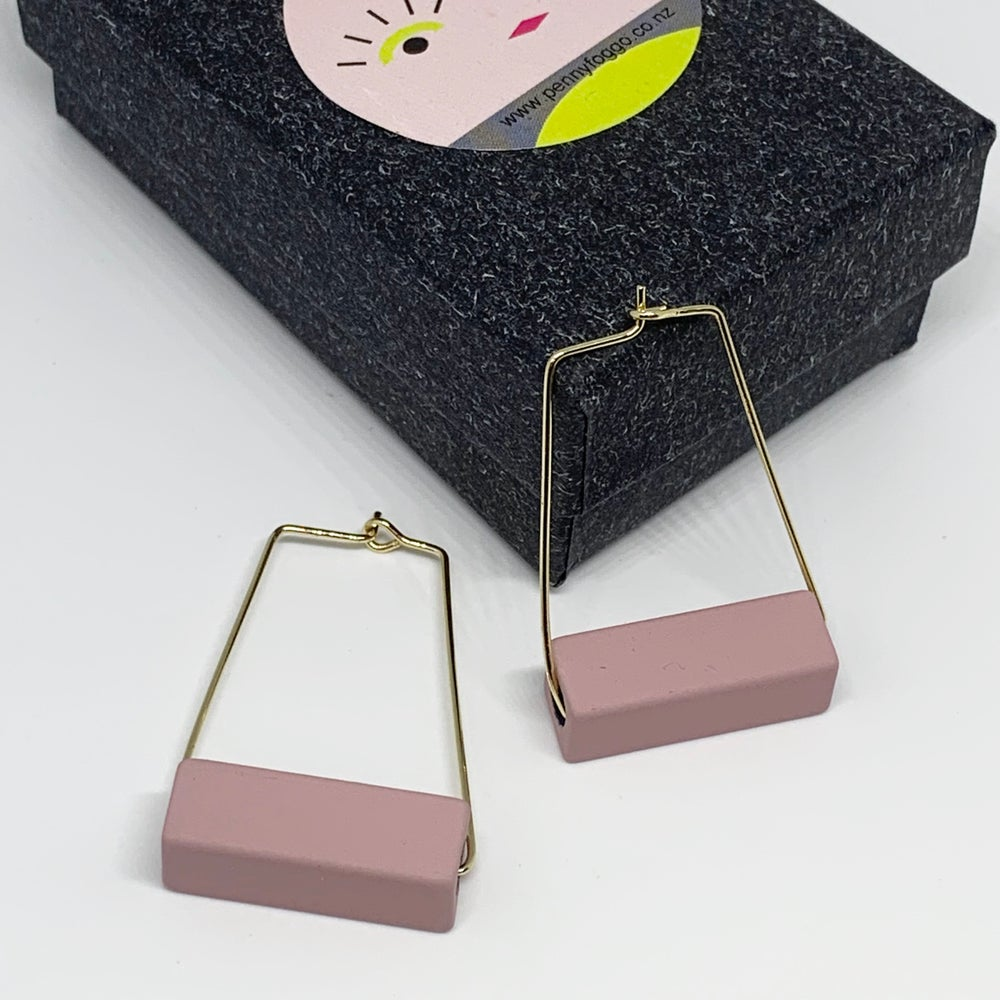 Image of Block Hoop Earrings