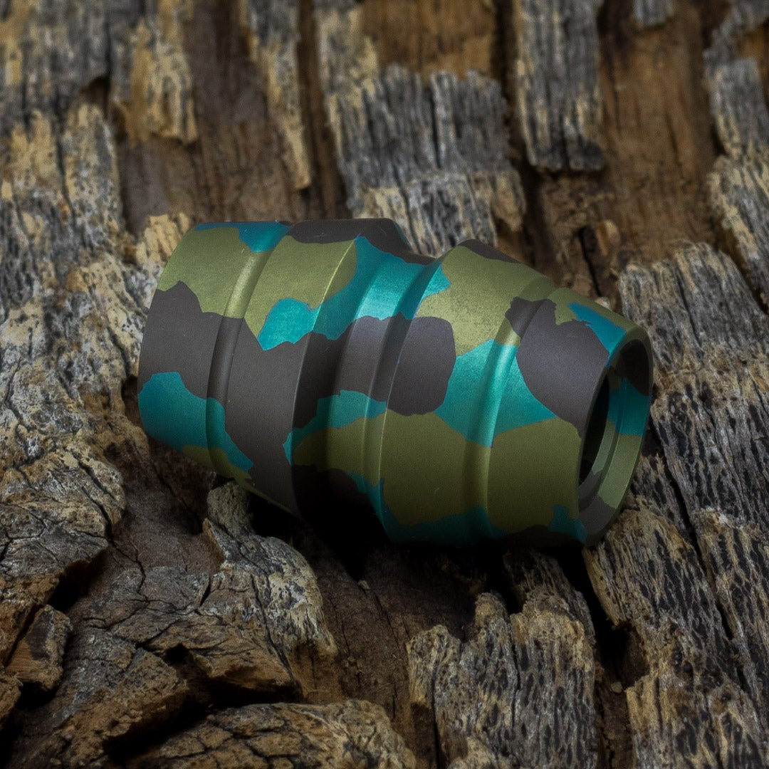 Image of Raptor Green Camo Ti Bead