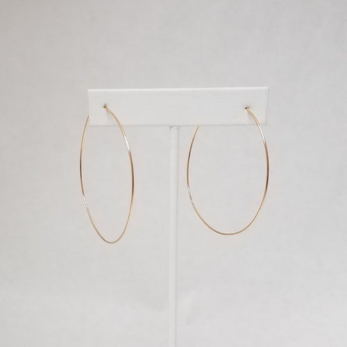 Image of Minimalist #6 and #7 hoop earrings