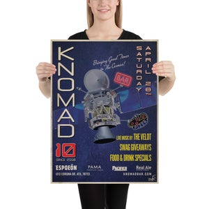 """Knomad 10th Anniversary Poster 18""""x24"""""""