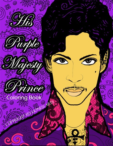 Image of His Purple Majesty Prince Adult Coloring Book