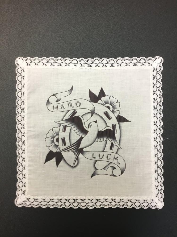 Image of Pen on handkerchief drawing by Luke