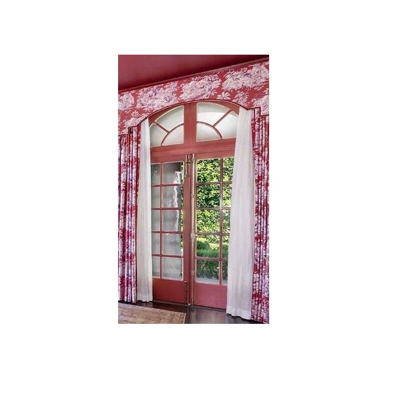 Image of Manuel Canovas Bengale Toile Grand Drapery Window Treatment With Valance