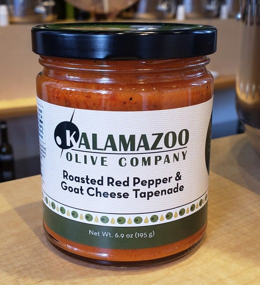 Roasted Red Pepper and Goat Cheese Tapenade - our very own!